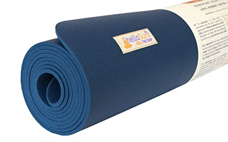 helloSun Premium Quality Performance Yoga mat, Natural Rubber, Superb Grip, Non Slip, Moisture Absorption, Light, OEKOTex Certified, Made in Europe, ...