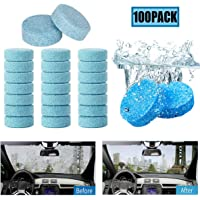 Liuer 100 Stks Auto Voorruit Glas Geconcentreerde Washer Tabletten Schoonmaken Tabletten Effen Wiper Glas Effen Washer…
