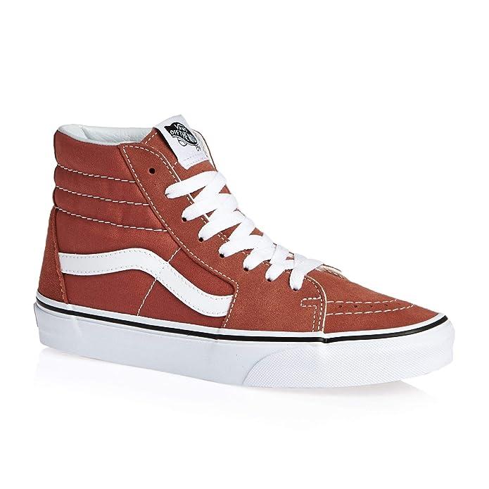 Vans Unisex-Erwachsene SK8-Hi Hohe Sneakers Rot Hot Sauce
