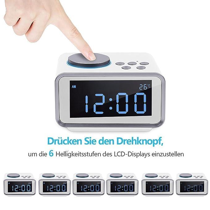 Besorgt Digitale Projektion Wecker Bin Fm Radio Uhr Mit Usb Lade Port Radio