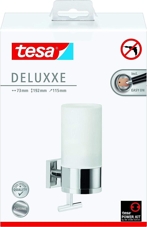 Design Moderno Autoadesivo Cromato Vetro Smerigliato Nessuna Tesa 40410 Porta Bicchiere Deluxxe
