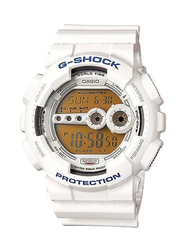 CASIO GD-100SC-7ER - Reloj de Caballero de Cuarzo, Correa de Resina Color Blanco