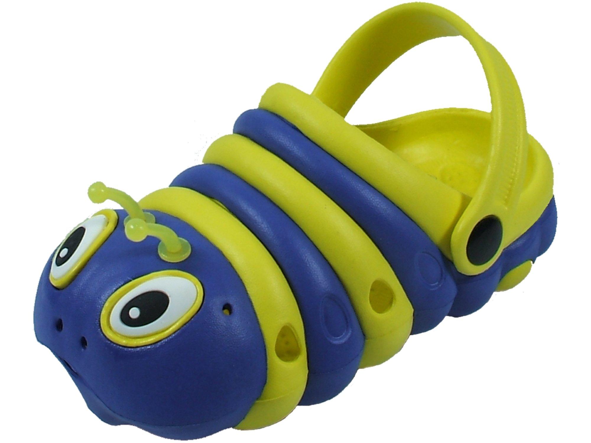 Kids Girls Boys Animal Clog Summer Shoes Walking Slippers (29 (11 M US Little Kid), Navy/Yellow)