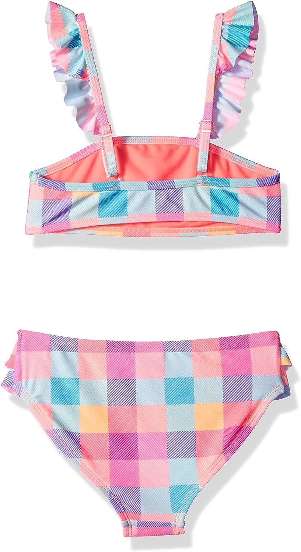 Angel Beach Girls Big Bandeau Bikini Swimsuit Set with Ruffle