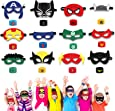 HXDZFX 24PCS Superhero Party Masks & Superhero Slap Bracelet for Kids Baby - The Avengers Super Heroes Birthday Party Supplies Favors Children/Kids/Adults (24PCS)