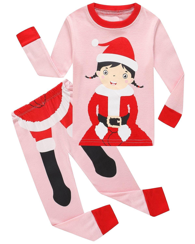 Dolphin& Fish Girls Christmas Pajamas Kids Pjs 100% Cotton Toddler Clothes Children Sleepwear Shirts