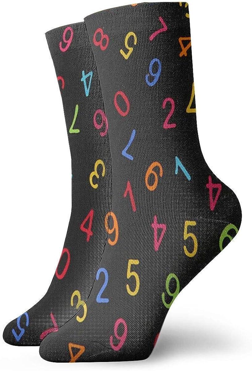 Calcetines para hombre y mujer Calcetines de color Números arábigos Calcetín deportivo Personalizado Cojín anti olor Bota corta Media