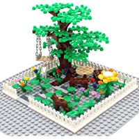 Botanical Scenery Accessories Trees, Flowers, Swing and Fences Garden Park Building Block Toy Plant Set Compatible All…