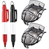Jupitoo Golf Ball Line Marker Golf Ball Line Liner 2 Pack Golf Ball Marker Line Drawing Tool with 2 Pieces Golf Ball…
