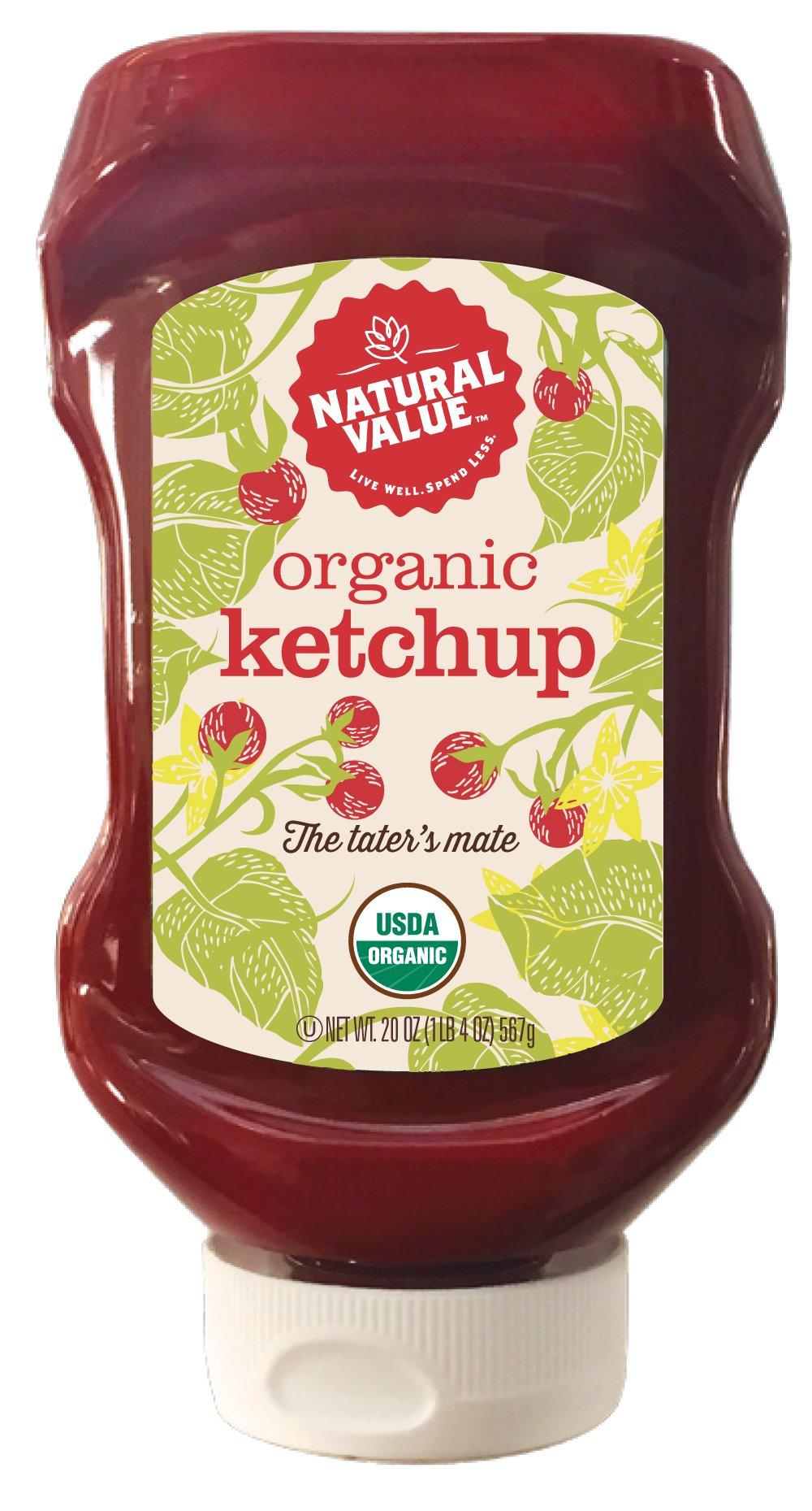 Natural Value Organic Ketchup, 20 Ounce (Pack of 12)
