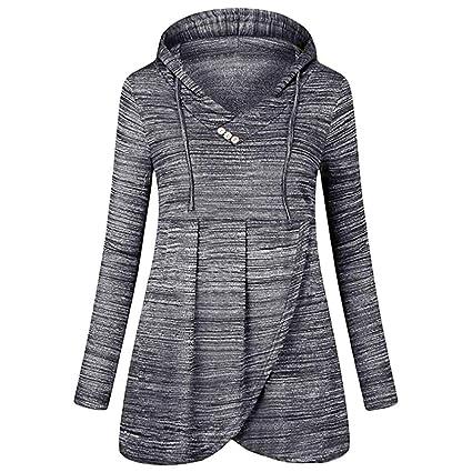 Yvelands Blusas para Mujeres en Oferta Casual Button Camiseta Larga sin Mangas Blusa: Amazon.es: Ropa y accesorios