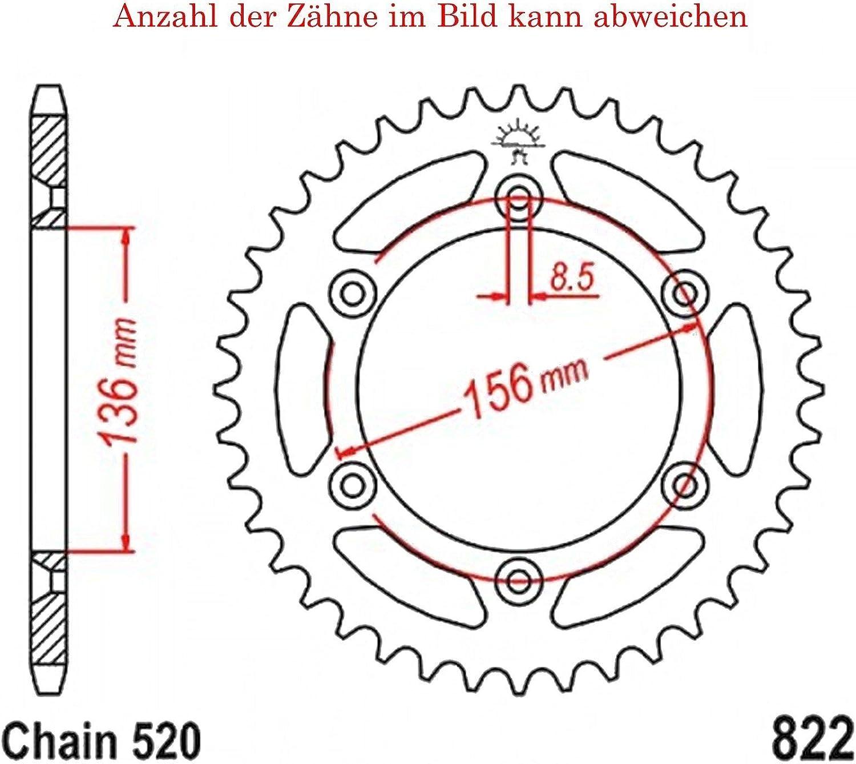 Kettenrad mit 52 Z/ähnen f/ür EC 300 Replica Nambotin 2009-2011 von jt-Sprockets