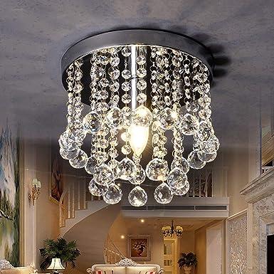 Sonmer Lámpara de techo de araña de cristal (7,9), base E12 ...