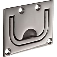 Dull Finish PH-0268 3-1//2 Projection Monroe  Stainless Steel 303 Offset Pull Handle Round Grip Pack of 1 Silver Color 10 Mounting Hole Center to Center 3-1//2 Projection Monroe Engineering Products Inc 10 Mounting Hole Center to Center