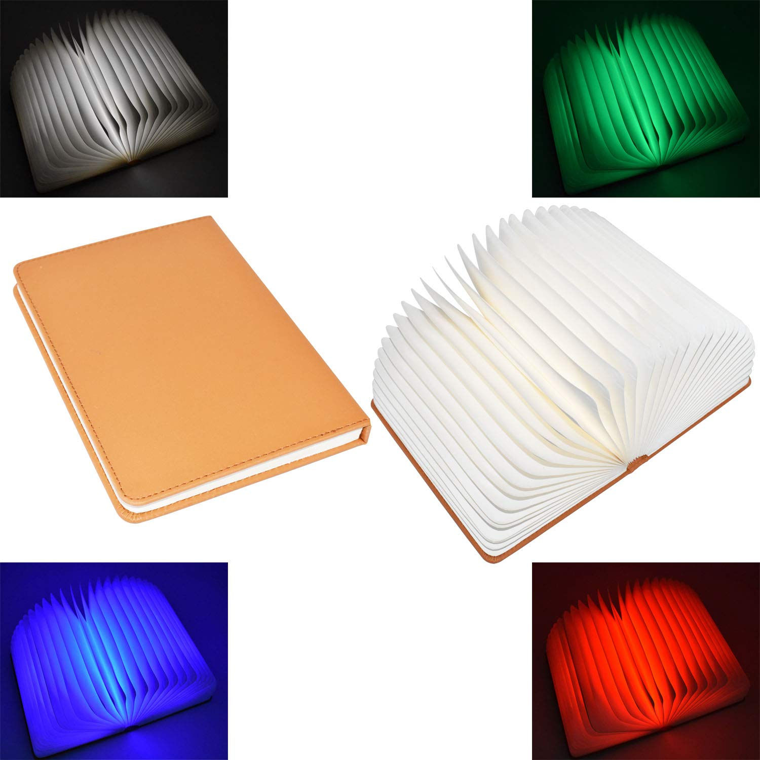 4 Colors Folding LED Book Light Lamp USB Rechargable 2000mah Night Lights for Desk Table Wall Bed Living Room Decor Magnetic Lamp Best Gift for Birthday Wedding Holiday Lovers Book Lover Family Friend
