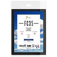 Fac FC35 - Filtre Universel de hotte au charbon actif 2 couches - anti graisses (partie blanche) anti odeurs (partie noire) à découper selon besoin - taille 47 * 57 cm. - fabrication 100% Française