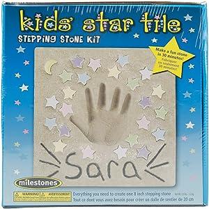 Milestones Kids' Star Tile Stepping Stone Kit Star Tile Stepping Stone Kit