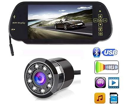 Carizo 7 Inches Rear View Mirror Screen+8LED Night Vision Camera-Maruti  Baleno Altura  Amazon.in  Car   Motorbike a73611664