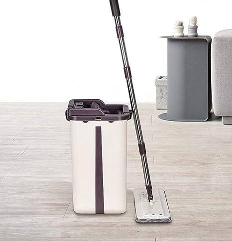 Fregona de limpieza del piso de la casa, manija de acero ...