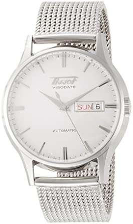 ee5358d6e Tissot Men's Stainless Steel Mesh Heritage Visodate Automatic Watch  T0194301103100