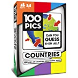 100 PICS Countries of The World Quiz Card Game - Educational Family Flash Card Travel Trivia Puzzle Games for Smart Kids and Adults Learning Geography