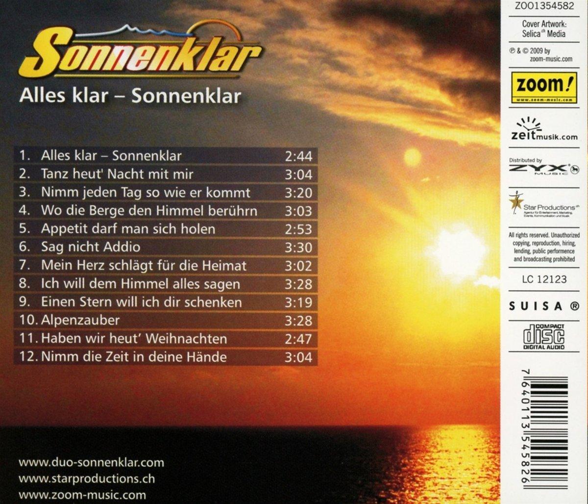 Amazoncom Alles Klar Sonnenklar Music