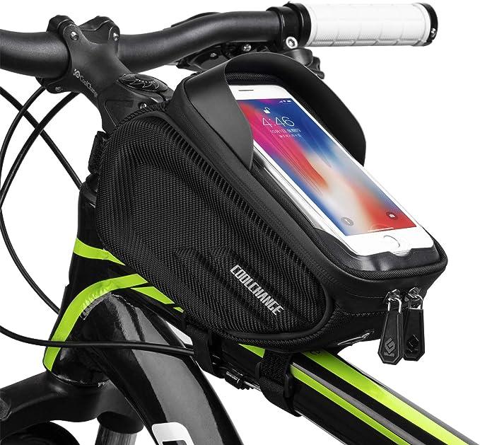 CoolChange Waterproof Bike Bag Frame Front Head Top Tube Cycling Bag Double