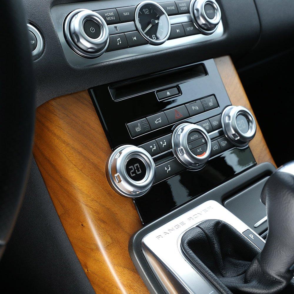 Gloss nero ABS cromato auto Center CD Decoration cover Trim for Rangerover sport 2010/ /2013