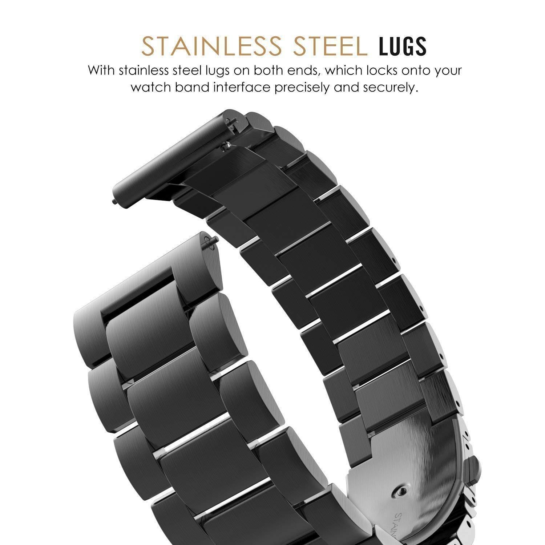 Samsung Gear S3 Frontier / Classic Correa, 22mm Watch Correa, einBand SmartWatch Correa de Acero Inoxidable Metal Reemplazo Link Bracelete con Hebilla ...