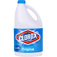 Clorox Original Liquid Bleach, Household Cleaner and Disinfectant, Kills 99.9% Germs and Viruses, 3.78 L