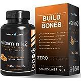 BEST Vitamin K2 ★ 600 mcg ★ Advanced Formula - All Natural MK7 Natto and MK4 Plus Calcium 100 mg - Vitamins K MK-7 + MK-4 - No GMOs, Organic, Vegan K2-MK7 Supplement Complex K2-7 M7 - 90 Veggie Caps