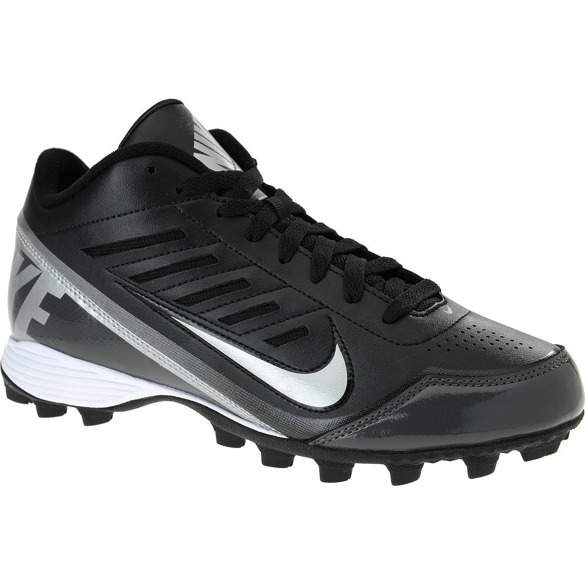 03de8ae96 Nike Land Shark 3 4 Men s Football Cleats Black Metallic Silver Tornado 1 M  US Little Kid  Buy Online at Low Prices in India - Amazon.in