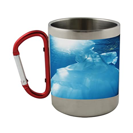 Amazon Com Stainless Steel Mug With Carabiner Handle With A Ball