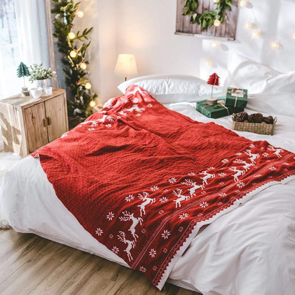 PROKTH クリエイティブクリスマスストッキング カジュアルニット クリスマスストッキング ソファブランケット エアコンディショニング ソファブランケット B PROKTH B  B07H7PGGF8