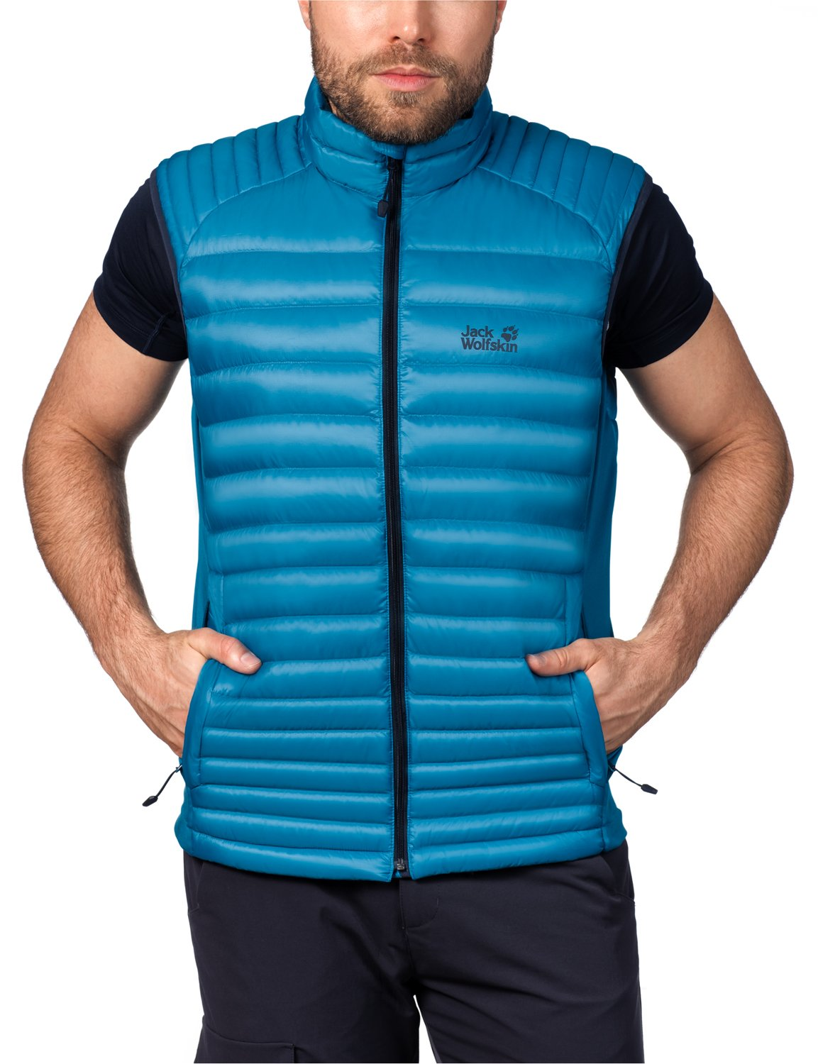 Jack Wolfskin Atmosphere Men's Down Gilet Flex Vest M, Men, Daunenweste Atmosphere Flex Vest M Large 1202141