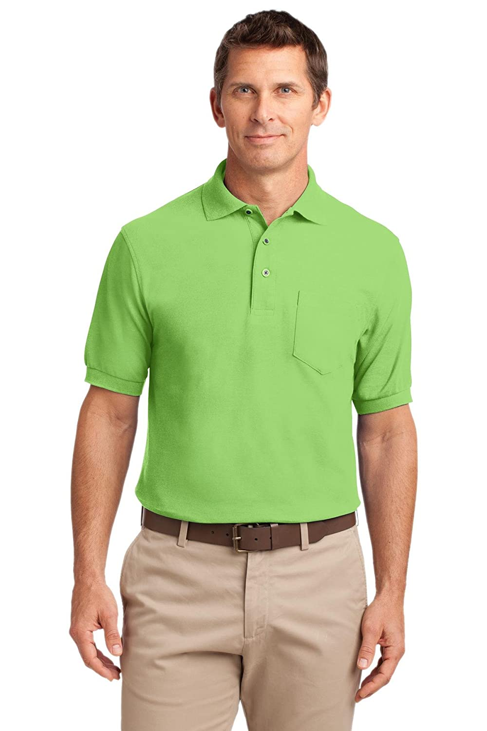 Port Authority Tall Silk Touch Polo with Pocket