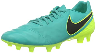 97c76b8ce Nike Mens Tiempo Legacy II FG Clear Jade Black Volt Shoes - 6.5A