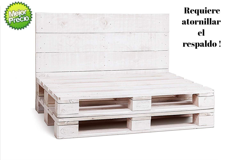 1 x Estructura de Sofá Hecha con Palets & Color Blanco ...