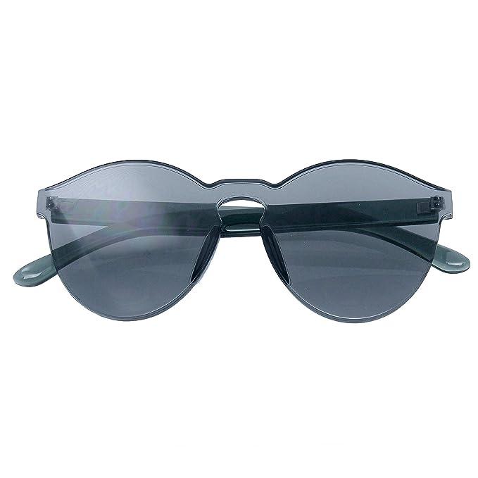 Amazon.com: Colorful - Gafas de sol transparentes sin borde ...