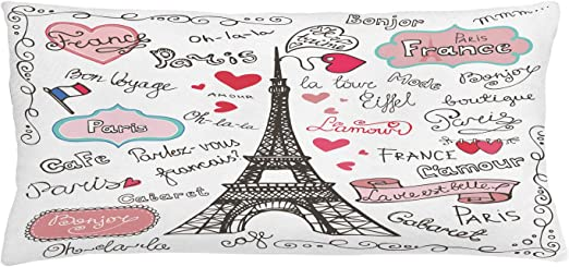 ABAKUHAUS Torre Eiffel Funda para Almohada, París Símbolos ...