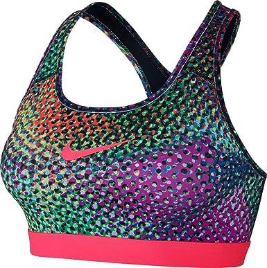 Nike Pro CLSSC KLDSCP Sujetador Deportivo, Mujer, Rosa (Black/Racer Pink), XS: Amazon.es: Deportes y aire libre