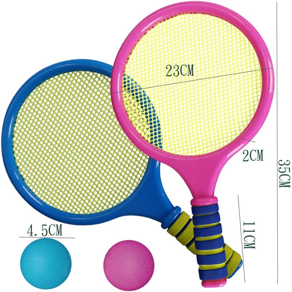 MAOJIE Kinderspielzeug Zuf/äLlige Farbe Kinder Badminton Set Mit Weichem Schaumstoff Behandelt Badminton Schl/äGer Set Mit Shuttlecocks Outdoor Indoor Garden Sport Fun Game