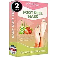 Foot Peel Mask - Strawberry Feet Peeling Mask 2 Pack - Dermatologically Tested, Cracked Heel Repair, Dead Skin Remover…