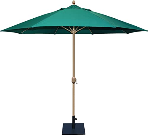 Tropishade 11 Sunbrella Patio Umbrella with Forest Green Cover