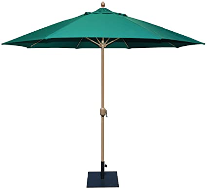 Tropishade 11u0027 Sunbrella Patio Umbrella With Forest Green Cover