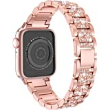 LELONG for Apple Watch Band 38mm 40mm 42mm 44mm SE Series 6 Series 5 4 3 2 1 , Bling Replacement Bracelet iWatch Band, Diamon