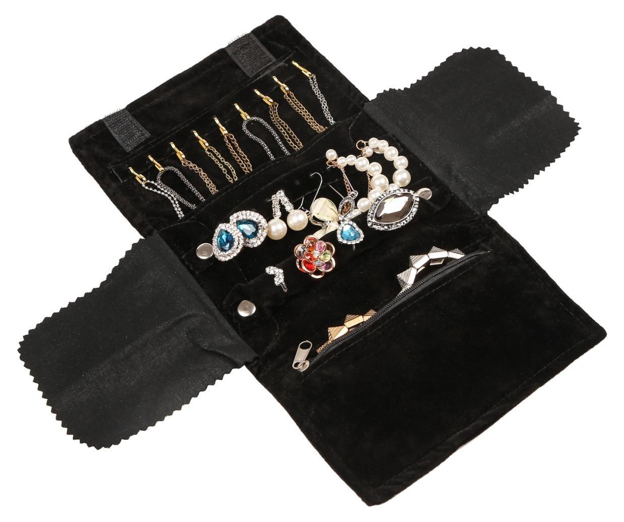 WODISON I monili portatili di lusso verniciano il sacchetto di organizzazione del sacchetto per il vino rosso di corsa (pacchetto di 2) RoyBella