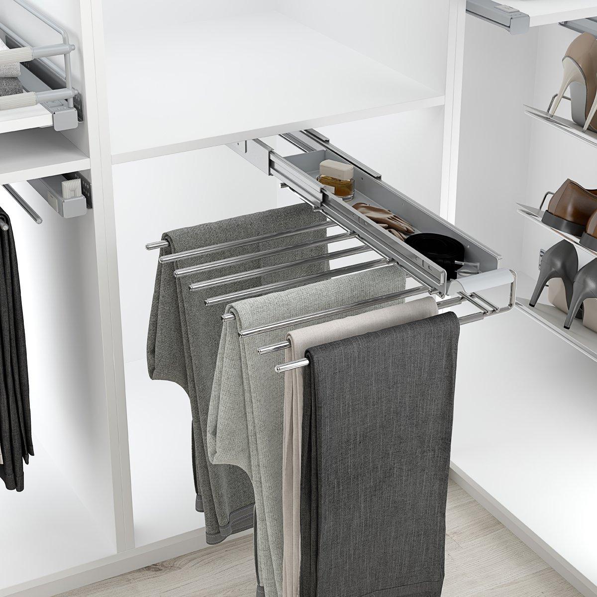 Kleiderbügel Hosenhalter ausziehbar Hosen-Auszug Kleiderschrank für ...