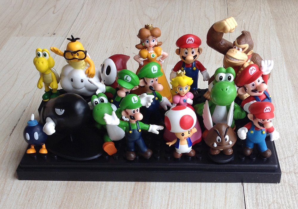 Generic Super Mario Brothers Figures Set Of 18 Pcs Toy Minifigures Free Shipping