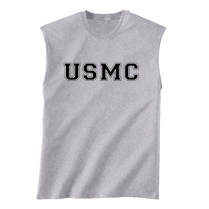 1eb5c782 Amazon.com: USMC Athletic Marines Sleeveless T-Shirt in gray ...